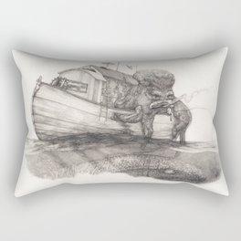 Hanging in a Houseboat Rectangular Pillow