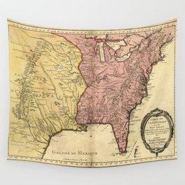 Map of North America circa 1763 (Carte de la Louisiane et des pays voisins) Wall Tapestry