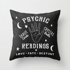 Psychic Readings Fortune Teller Art Throw Pillow