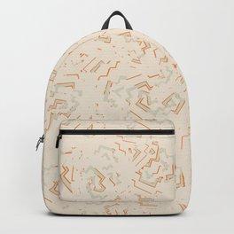 Modern African Zig-Zag Print Backpack