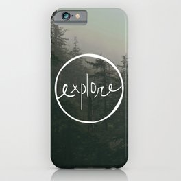 Explore Oregon Forest iPhone Case
