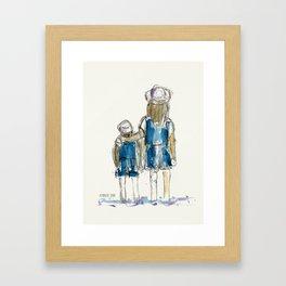 Brother&Sister- illustration Framed Art Print