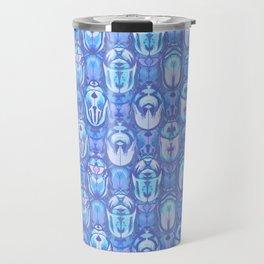Beetles in Blue Travel Mug