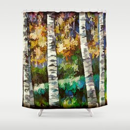 Enchanted Birch Forest Shower Curtain