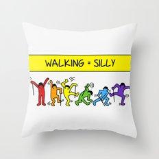 Pop Shop Silly Walks Throw Pillow