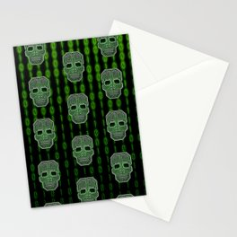 Skull Hacker (pattern version) Stationery Cards