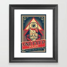 One-eyed Pirate Framed Art Print