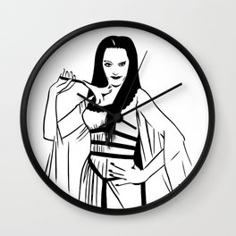 Lilly Munster of the Munsters Illustration Wall Clock