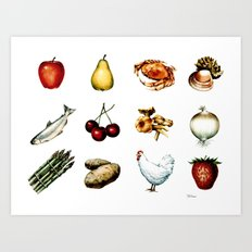 Some More Food Art Print