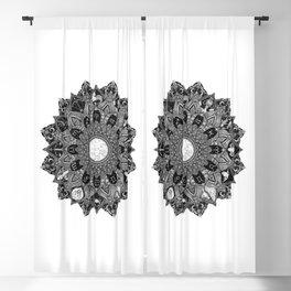 Zodiac Signs Mandala Blackout Curtain