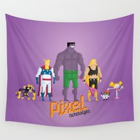 lab Wall Tapestries featuring Dexter's Lab - Pixel Nostalgia by Boo! Studio