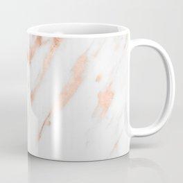 Pink Quartz Marble Rose Gold White Coffee Mug