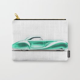 Vintage 1934 teal green Packard Eight 2/4-Passenger Coupe Carry-All Pouch