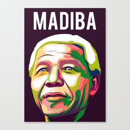 Madiba pop art Canvas Print