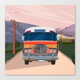 Retro Bus Canvas Print