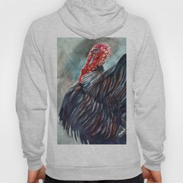 Turkey Watercolor Painting Hoody