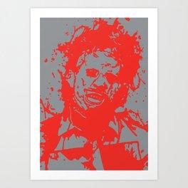 August 18, 1973: Bloodstain Leatherface (color combination J) Art Print