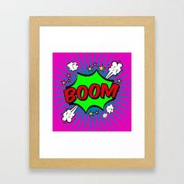Boom Pink Boom Framed Art Print
