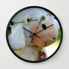 The little lamb named Luv Wall Clock