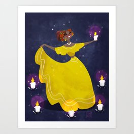 Cumbia Dancer Art Print