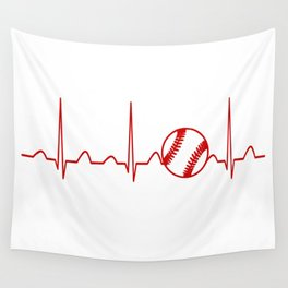 SOFTBALL HEARTBEAT Wall Tapestry