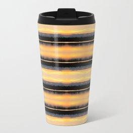 166 - Sunset Stripes design Travel Mug