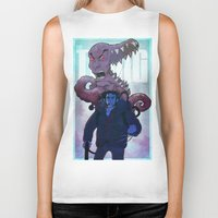 xmen Biker Tanks featuring Xmen vs The Thing by ashurcollective