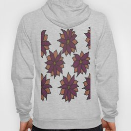 Holiday Two-Toned Flowers Hoody