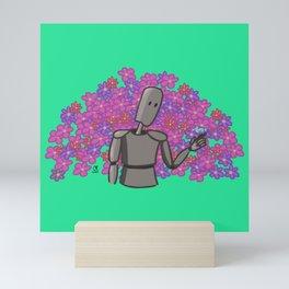 Spring robot Mini Art Print