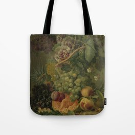 Still Life with Flowers and Fruits, Albertus Jonas Brandt (1816 - 1817) Tote Bag