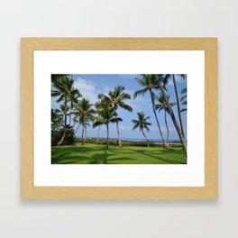 Palm Trees on the Big Island Framed Art Print