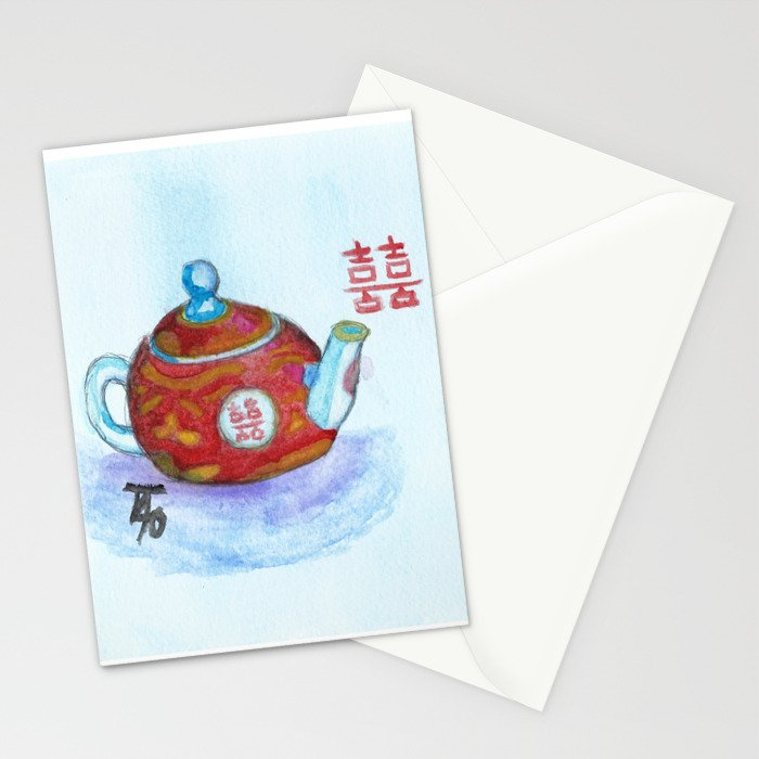 Chinese Teapot Stationery Cards