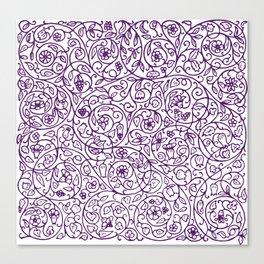 Floral Pattern - Medieval Swirls Canvas Print