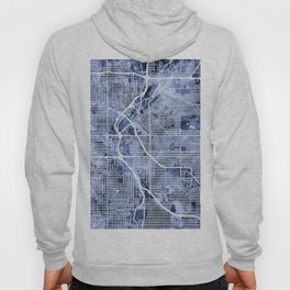 Denver Colorado Street Map Hoody
