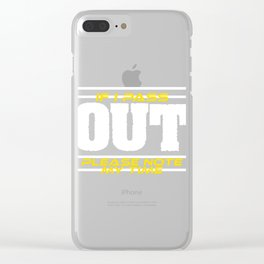 """Great Gift For The Fitness Running Fanatic """"If I Pass Out, Please Note My Time"""" Fit Running Clear iPhone Case"""