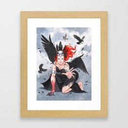 Transformation of The Morrigan Framed Art Print