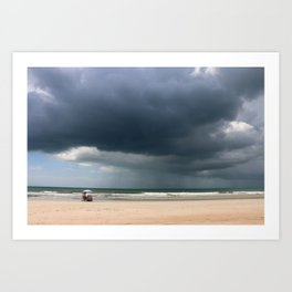 A Peaceful Day At The Seaside Art Print