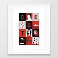dexter Framed Art Prints featuring Dexter by Bill Pyle