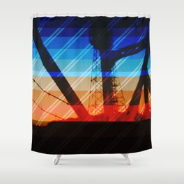 Over the Bridge Shower Curtain