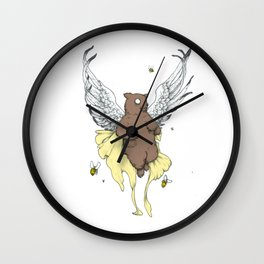 Bears and the Bees Wall Clock