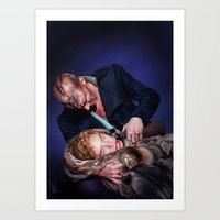 frankenstein Art Prints featuring Frankenstein by tillieke