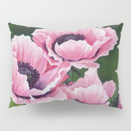 Pretty Pink Poppies Pillow Sham