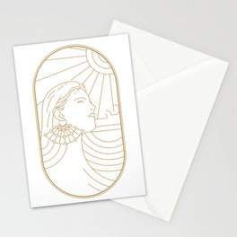 Girl Art Deco 02 Stationery Cards