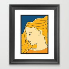 Sweet Girl Framed Art Print