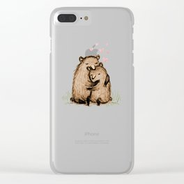 Bearlentines Clear iPhone Case