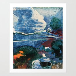 Mini World Environmental Blues 2 Art Print