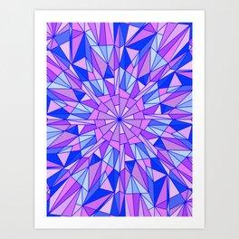 Ice Burst Art Print