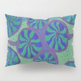 Blue Ocean Groove Pillow Sham