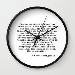 She was beautiful Wall Clock