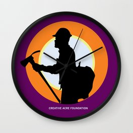Creative Acre Foundation (CAF) Support poster Wall Clock